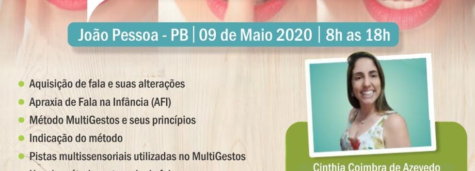 Maio - João Pessoa - Curso Multigestos - Fala