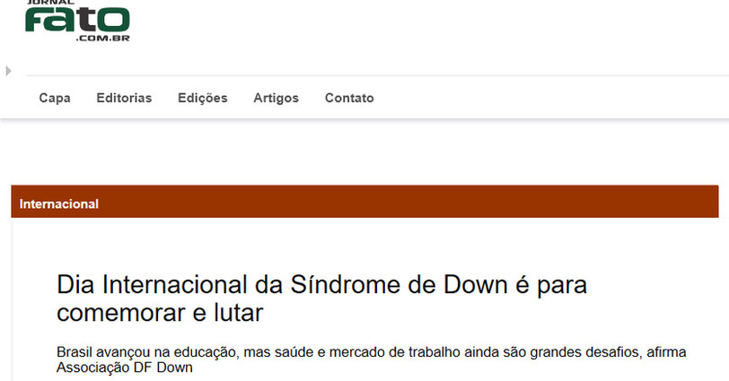 Dia Internacional da Sindrome de Down