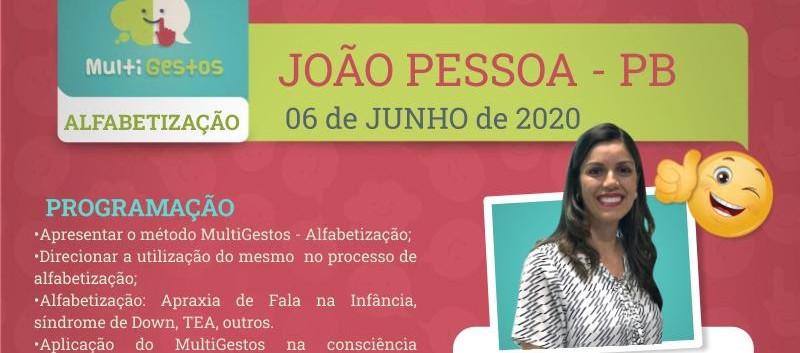 Junho - João Pessoa - Curso Multigestos - Alfabetização