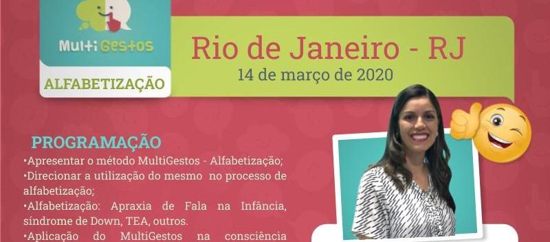 Março - Rio de janeiro - Curso Multigestos - Alfabetização