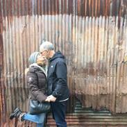 Rich &Lydia kissing at Granville Island