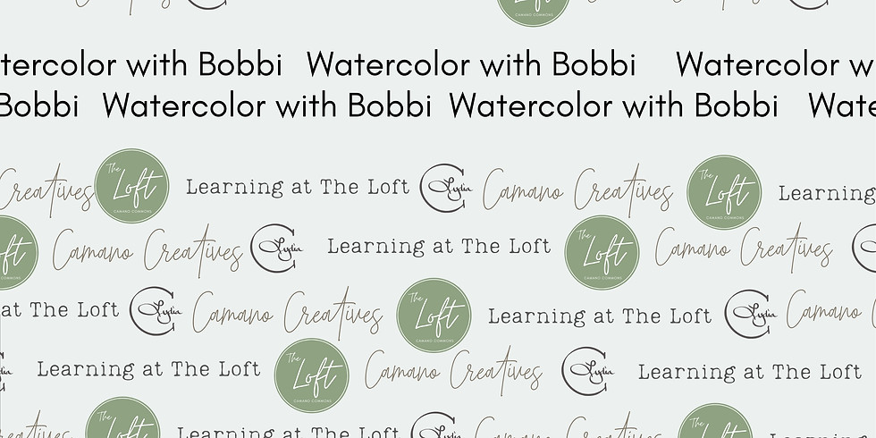 CLASS: Watercolor with Bobbi  Sept 13, 20 & 27   10am-12noon