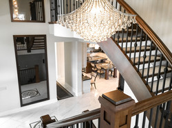 Chandelier Staircase