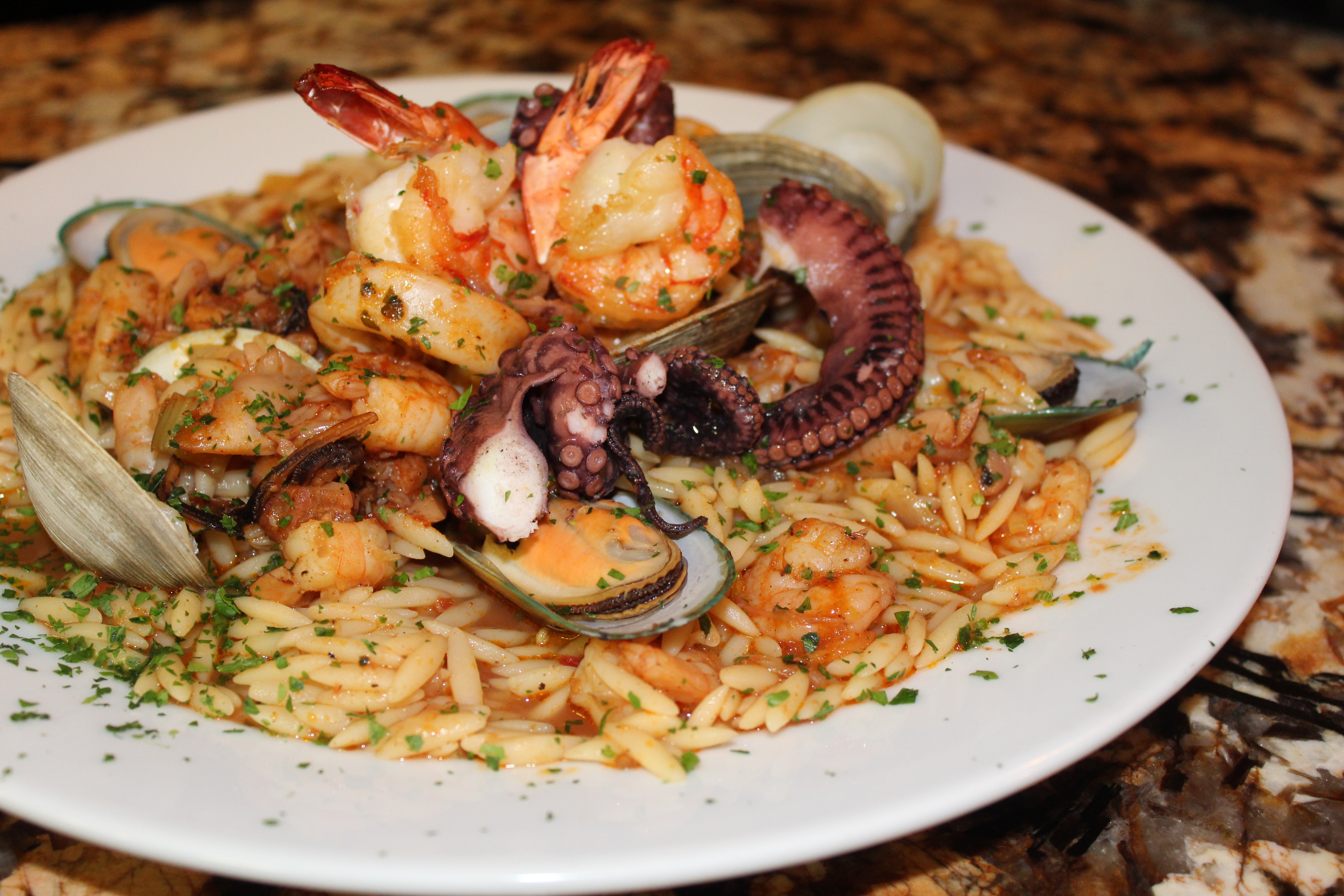 Seafood Orzo