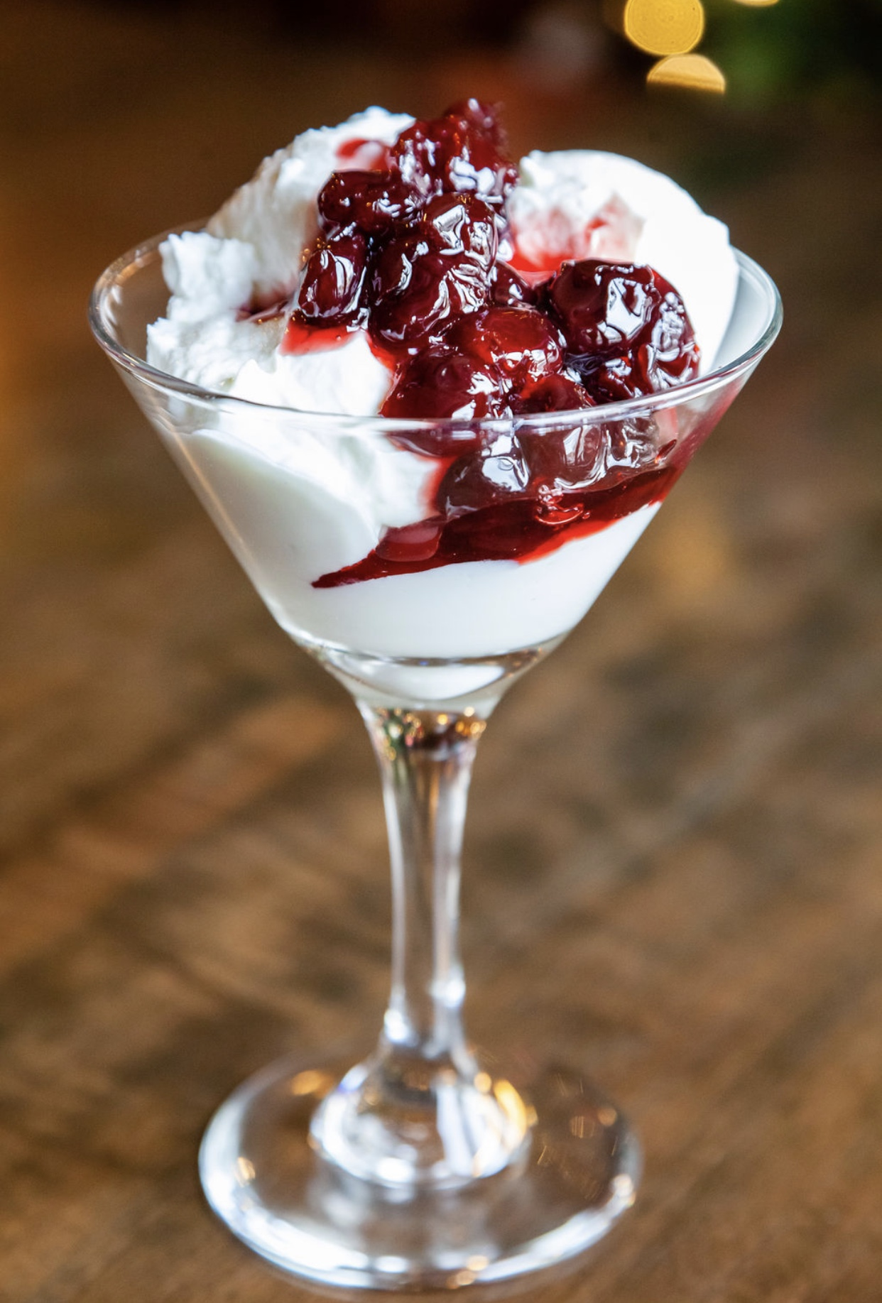 Greek Yogurt with Sour Cherry Preserves