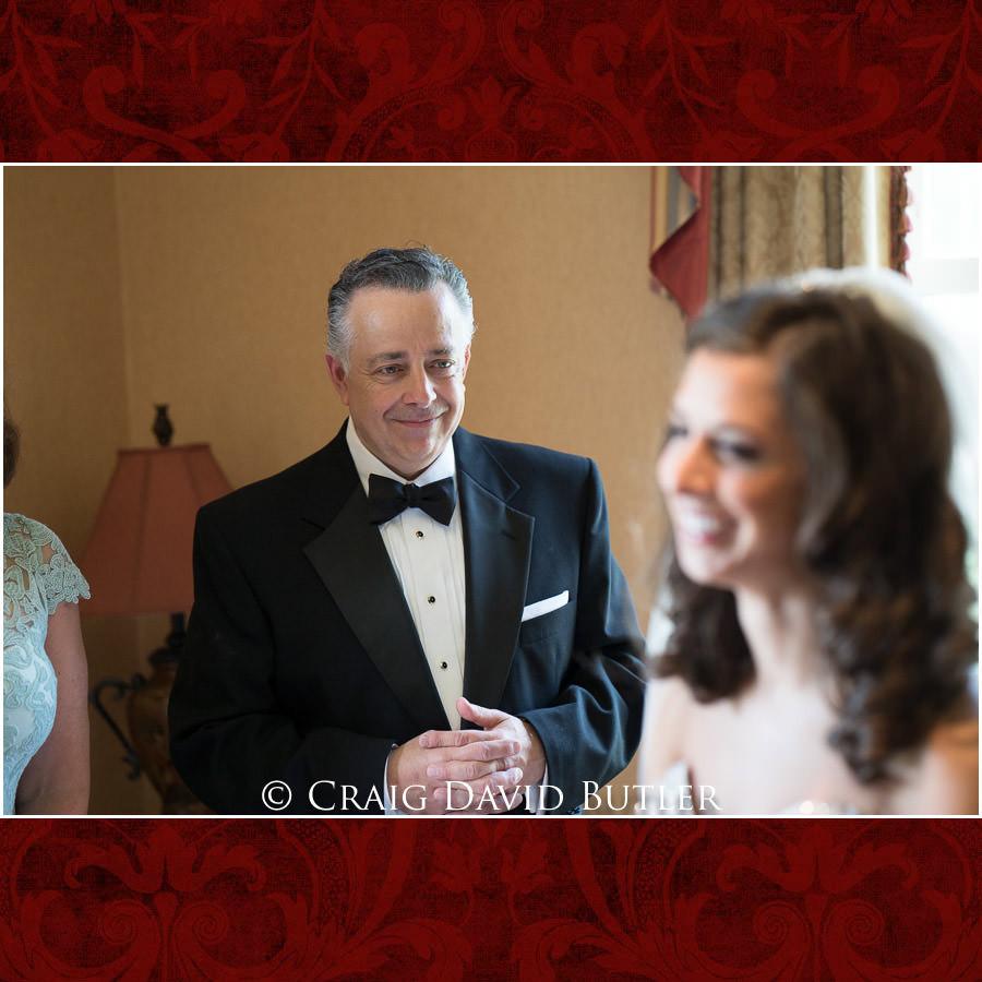 Father of the bride admiring - Dearborn Inn Wedding Photo- Detroit Michigan Wedding Photographer - CDB Studios