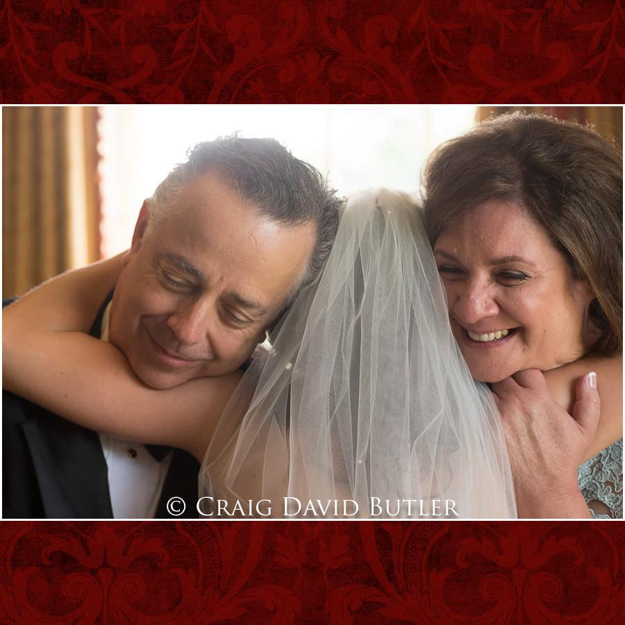 The Father first look - Dearborn Inn Wedding Photo- Detroit Michigan Wedding Photographer - CDB Studios