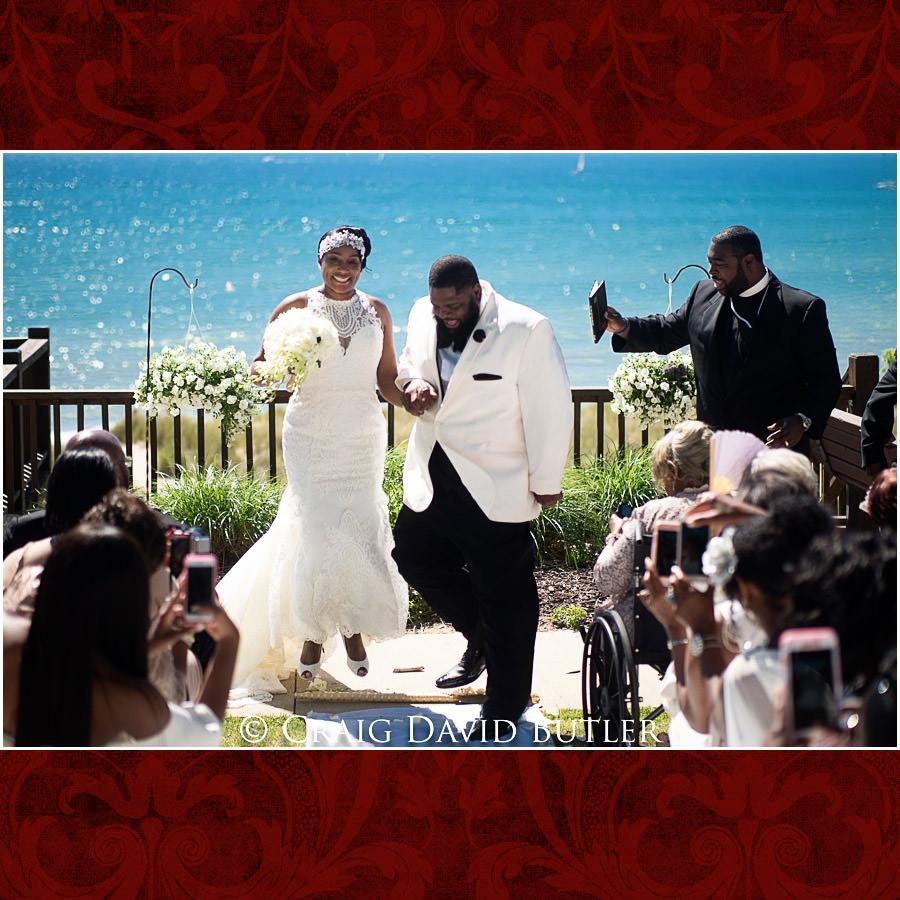 Jumping the Broom - Detroit Wedding Photographer - South Haven Wedding, Heritage Hall Reception, WMU, Kalamazoo MI - CDB Studios