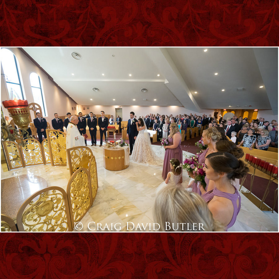 Greek Orthodox Ceremony - Holy Cross MI - Dearborn Inn Wedding Photo- Detroit Michigan Wedding Photographer - CDB Studios