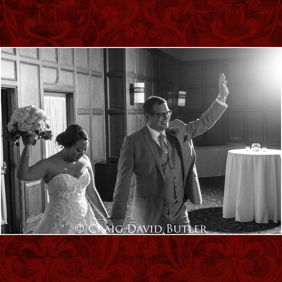 Bride Groom Entrance  - Wedding Photos, Michigan League, St. Francis Azizi, Ann Arbor MI, CDBStudios