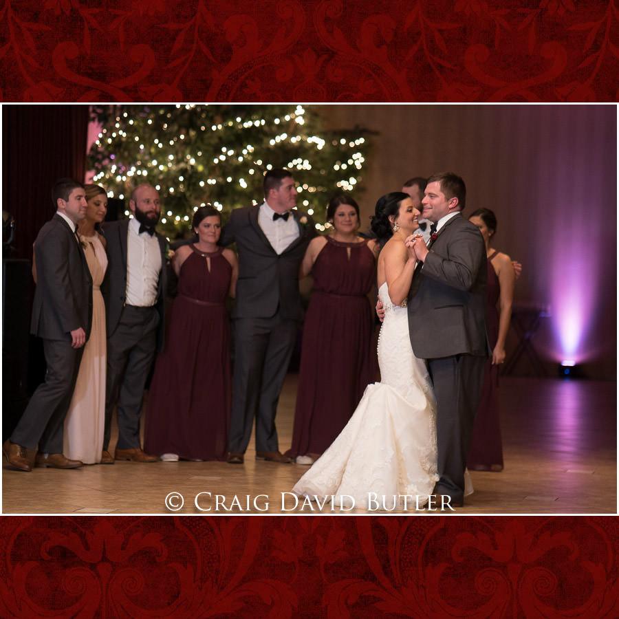 Crystal Gardens Wedding First Dance Photos Southgate Michigan Craig David Butler
