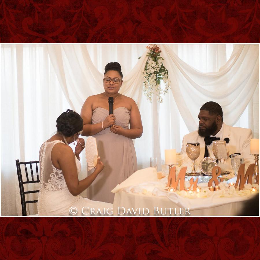 MOH Speech Detroit Wedding Photographer - South Haven Wedding, Heritage Hall Reception, WMU, Kalamazoo MI - CDB Studios