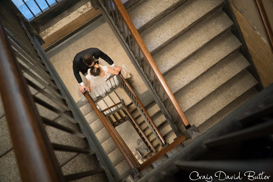 Bride Groom - Photo -  Foundation Hotel - Detroit - MI Craig David Butler