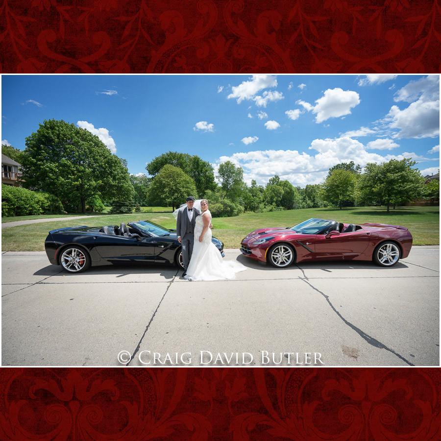Corvette Love - Michigan-Wedding-Photographer-Novi-CraigDavidButler