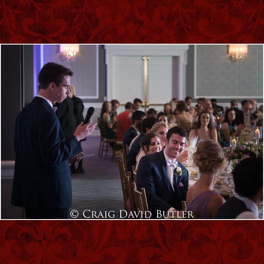 Best Man Toast - Dearborn Inn Wedding Photo- Detroit Michigan Wedding Photographer - CDB Studios