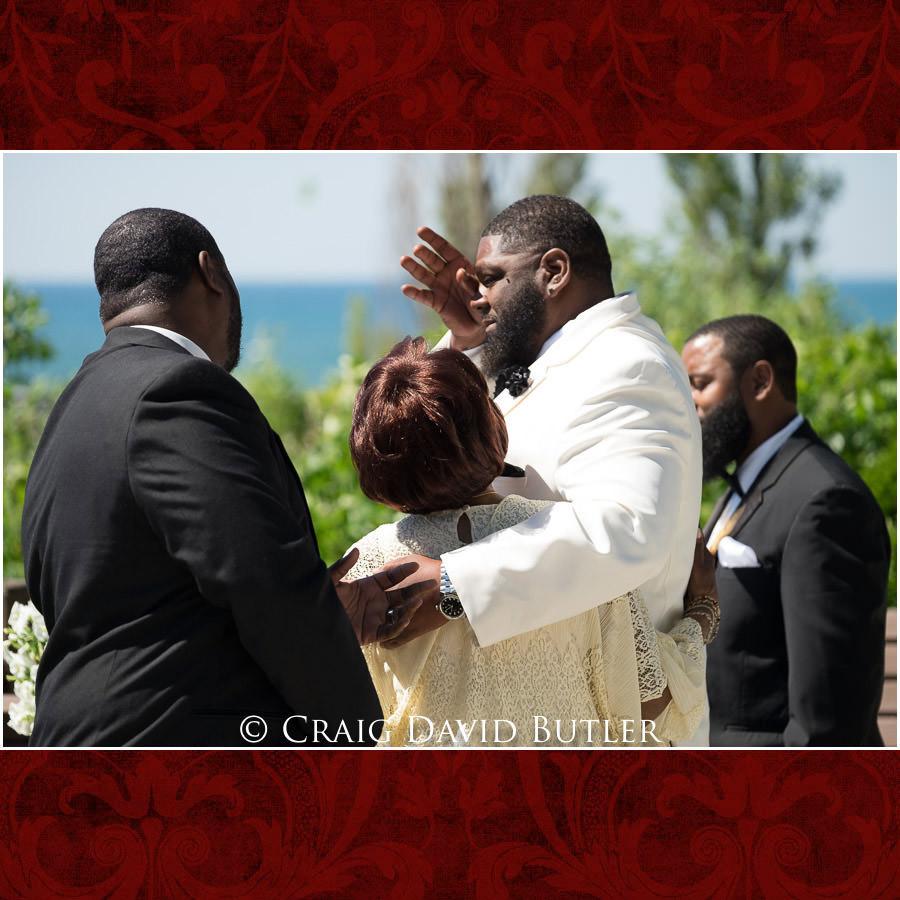 Consoling during ceremony Detroit Wedding Photographer - South Haven Wedding, Heritage Hall Reception, WMU, Kalamazoo MI - CDB Studios