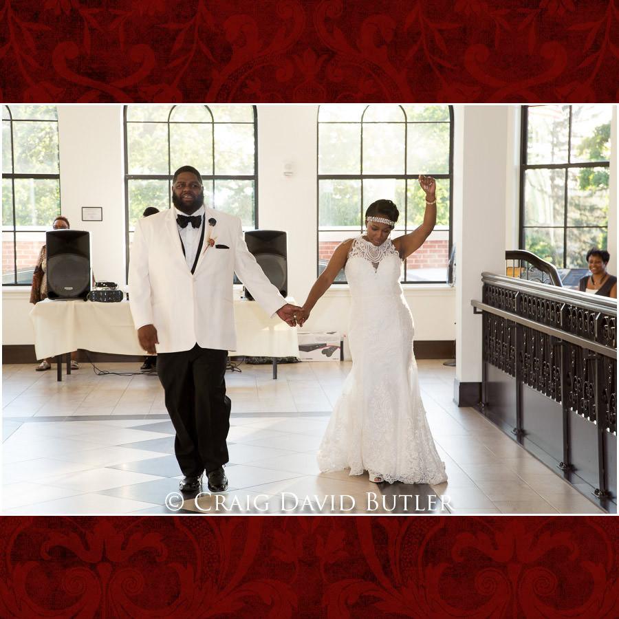 Bride & Groom Entrance - Detroit Wedding Photographer - South Haven Wedding, Heritage Hall Reception, WMU, Kalamazoo MI - CDB Studios
