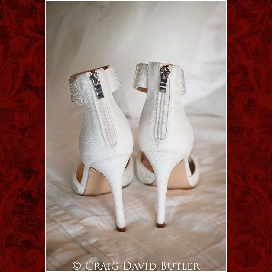 Bride Shoes - Wedding Photos, Michigan League, St. Francis Azizi, Ann Arbor MI, CDBStudios