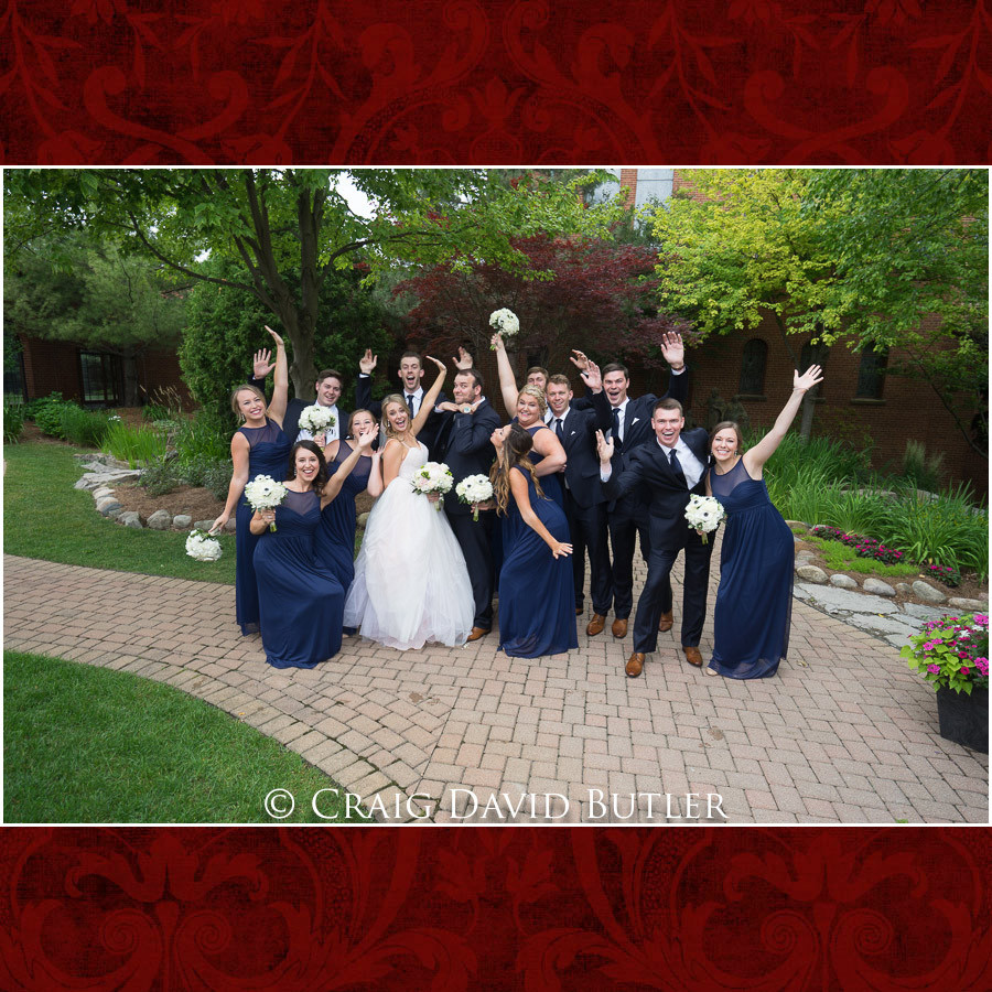 Bridal Party Poses Wedding Photographer Michigan, St. Johns Plymouth, CDB Studios