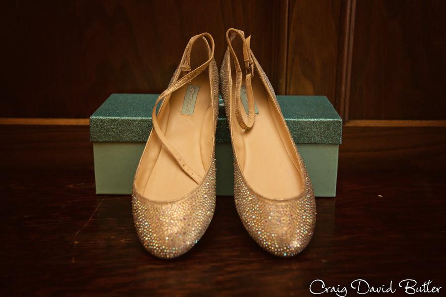 Betsey Johnson wedding shoes Masonic Temple Detroit MI- Wedding Photographer Craig David Butler