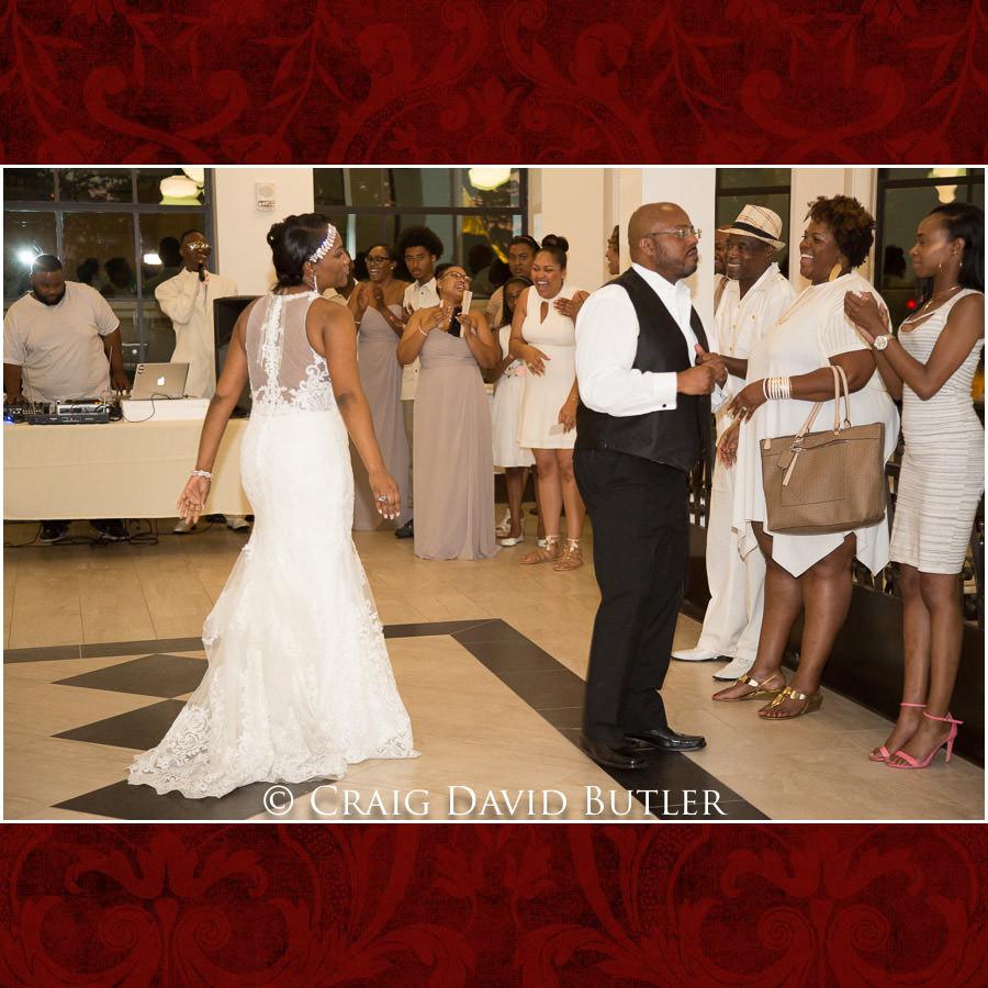 Dad Daughter Detroit Wedding Photographer - South Haven Wedding, Heritage Hall Reception, WMU, Kalamazoo MI - CDB Studios