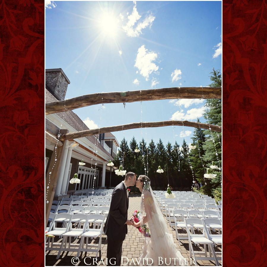 Using Sun in bride & Groom photos Clarkston Wedding Photographer - Oakhurst CC, Craig David Butler