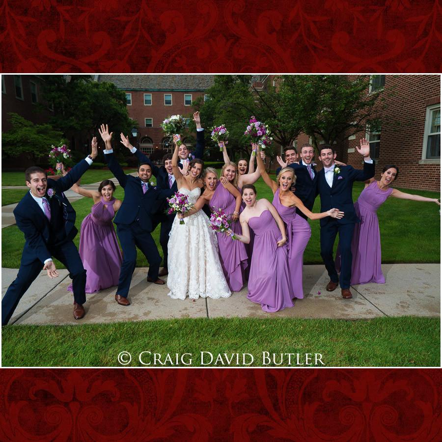 Bridal Party fun photos- Dearborn Inn Wedding Photo- Detroit Michigan Wedding Photographer - CDB Studios