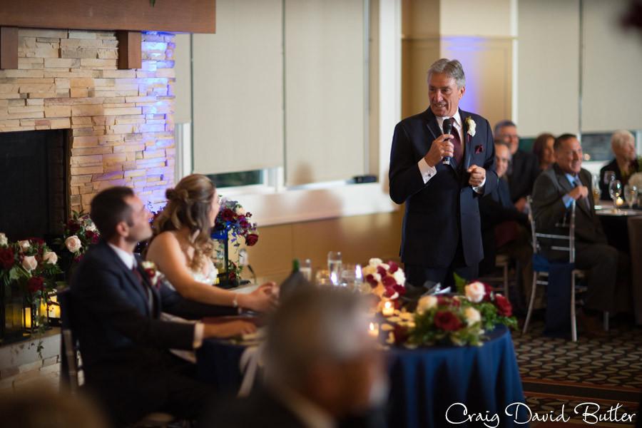 Best Man toast Brighton Wedding Photographer - Craig David Butler - Oak Pointe CC