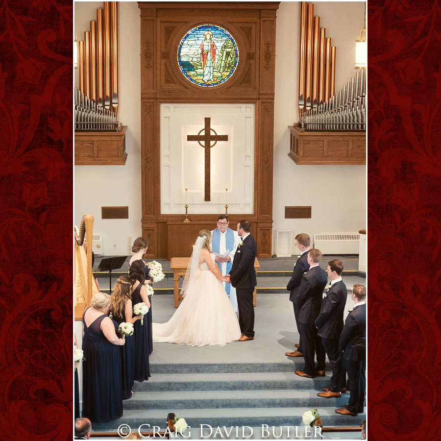 Wedding Ceremony photo Wedding Photographer Michigan, St. Johns Plymouth, CDB Studios