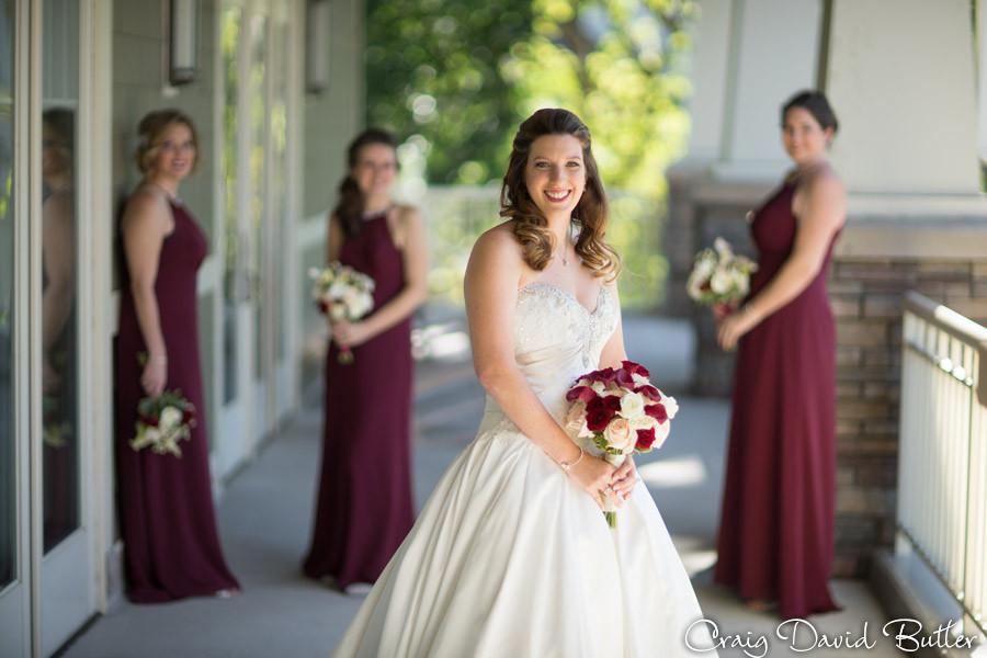 Bride with Bridesmaids Brighton Wedding Photographer - Craig David Butler - Oak Pointe CC