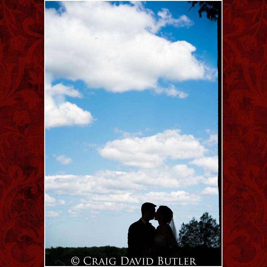 Bride & Groom silhouette Clarkston Wedding Photographer - Oakhurst CC, Craig David Butler