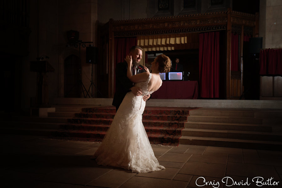 Bride Groom Dance Masonic Temple Detroit MI- Wedding Photographer Craig David Butler