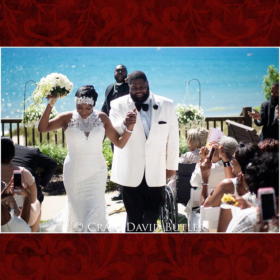 Ceremony Exit Bride & groom Detroit Wedding Photographer - South Haven Wedding, Heritage Hall Reception, WMU, Kalamazoo MI - CDB Studios