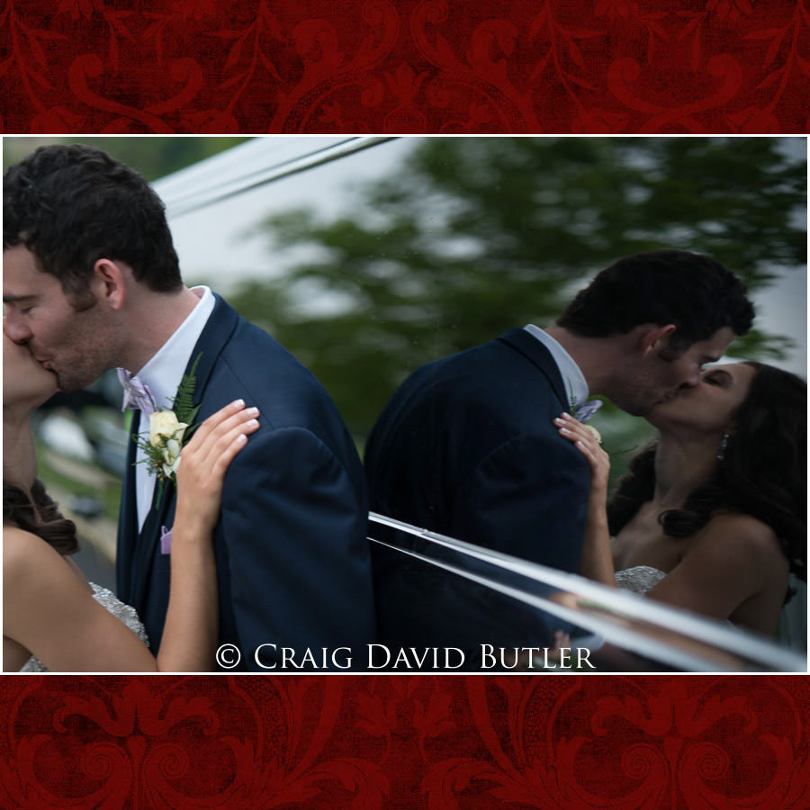 Use of Reflection in Wedding Photo - Dearborn Inn Wedding Photo- Detroit Michigan Wedding Photographer - CDB Studios
