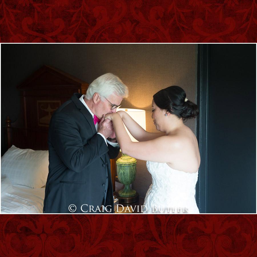 Bride Dad First Look 0 Wedding Photos, Michigan League, St. Francis Azizi, Ann Arbor MI, CDBStudios