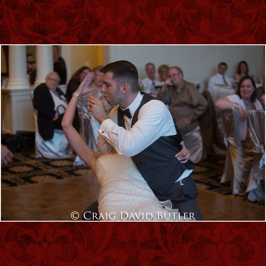 Dip during the first dance of Bride & Groom Clarkston Wedding Photographer - Oakhurst CC, Craig David Butler