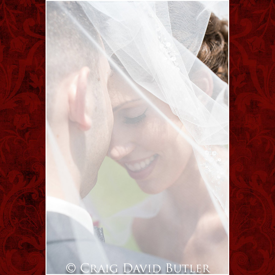 Bride veil shot Clarkston Wedding Photographer - Oakhurst CC, Craig David Butler