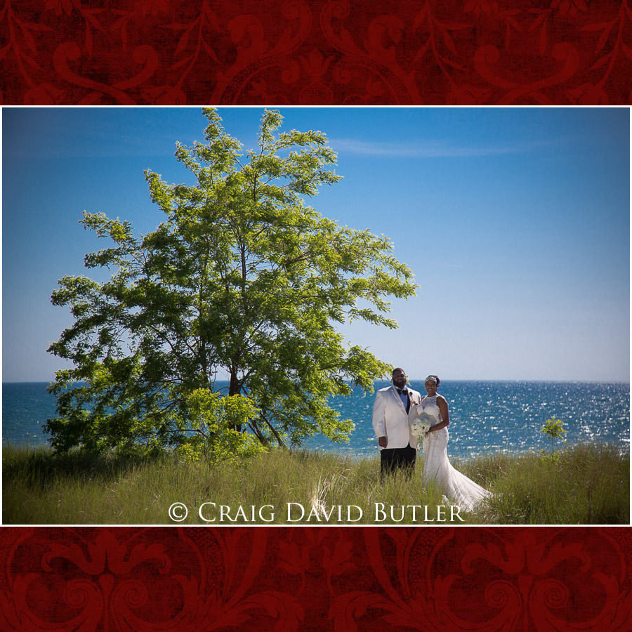 Bride & Groom - South Haven Beach - Detroit Wedding Photographer - South Haven Wedding, Heritage Hall Reception, WMU, Kalamazoo MI - CDB Studios