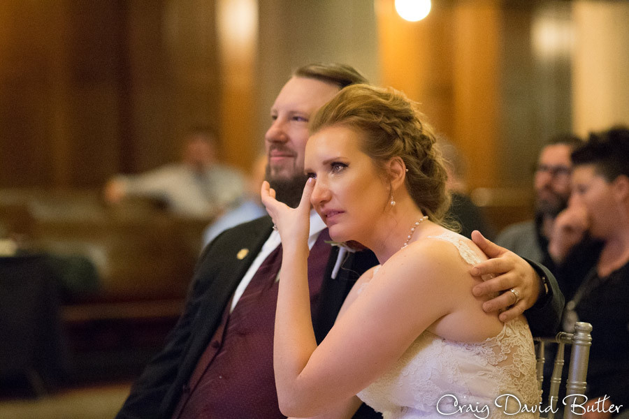 Same Day Edit Reaction Masonic Temple Detroit MI- Wedding Photographer Craig David Butler