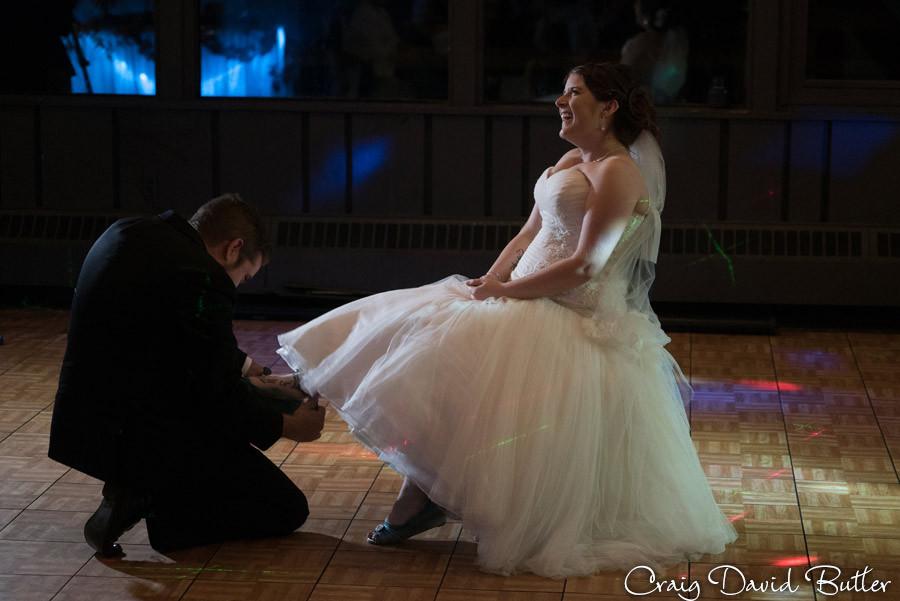 Garter Marquette Wedding Photography Craig David Butler Detroit