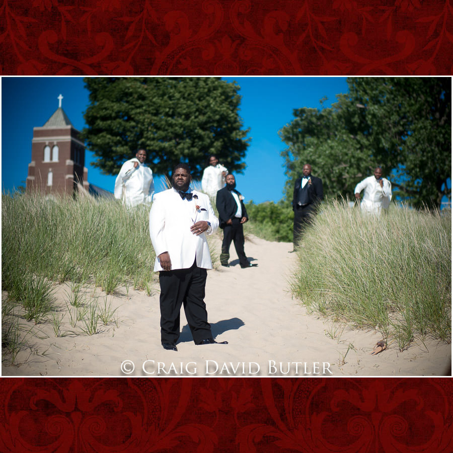 Groom & the Guys Detroit Wedding Photographer - South Haven Wedding, Heritage Hall Reception, WMU, Kalamazoo MI - CDB Studios