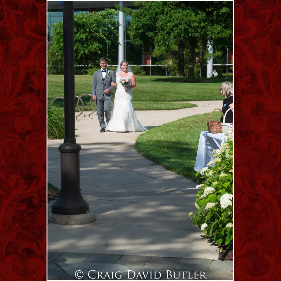 Ceremony bride procession Michigan-Wedding-Photographer-Novi-CraigDavidButler