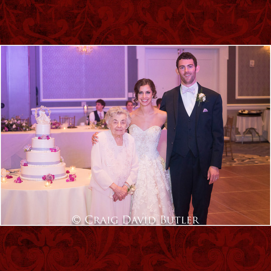 Grandma Pose  - with Cake Topper and Bride & Groom 0 Dearborn Inn Wedding Photo- Detroit Michigan Wedding Photographer - CDB Studios
