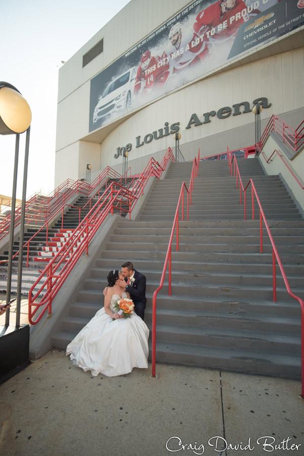 Joe Louis Arena Dearborn Inn Wedding Photographer, Craig David Butler