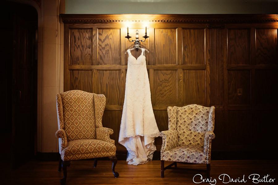 Wedding gown Masonic Temple Detroit MI- Wedding Photographer Craig David Butler
