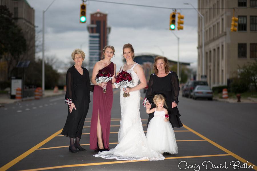 Bridesmaids photos Masonic Temple Detroit MI- Wedding Photographer Craig David Butler