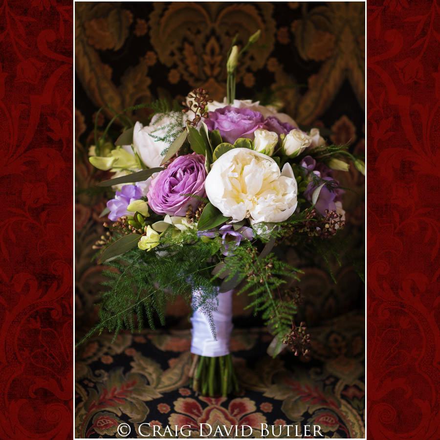 Wedding Bouquet - Dearborn Inn Wedding Photo- Detroit Michigan Wedding Photographer - CDB Studios