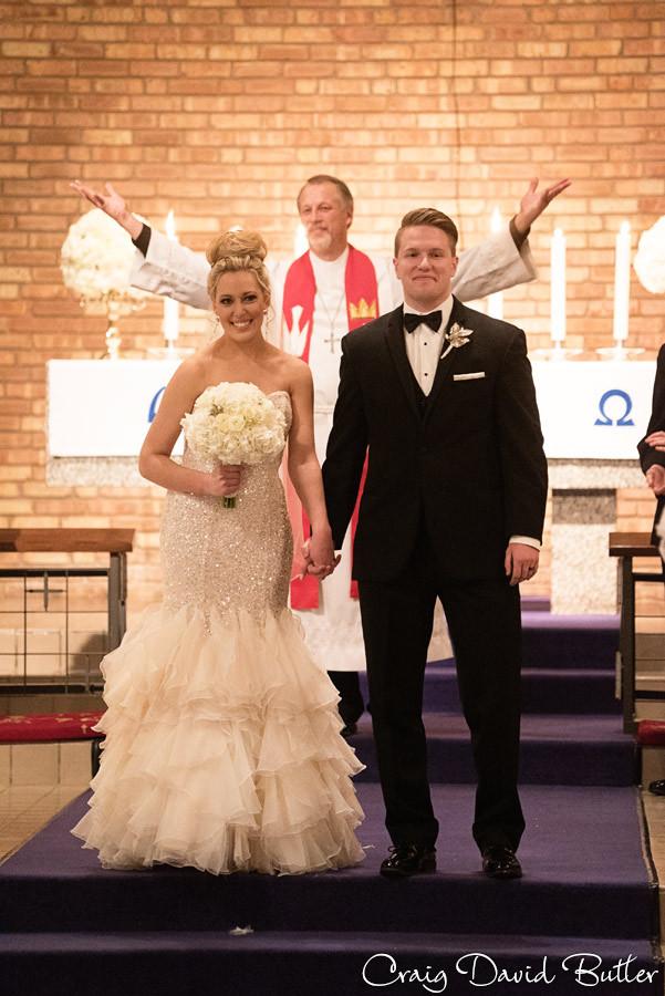 Presentation of Bride & Groom, Wedding Ceremony , Winter wedding at the Reserve in Birmingham MI - Craig David Butler