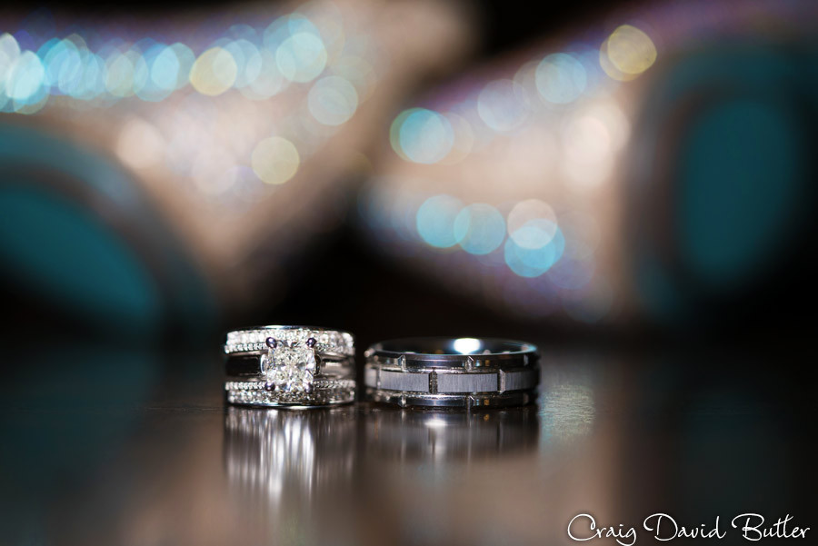 Ring shot Masonic Temple Detroit MI- Wedding Photographer Craig David Butler