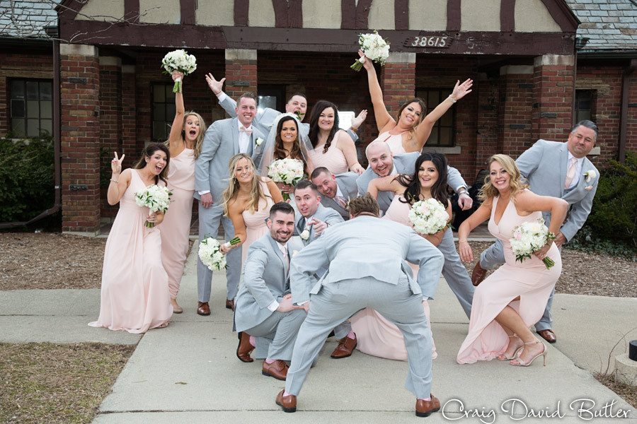 Bridal Party - St. John's Plymouth Grand Ballroom Wedding, Craig David Butler